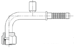 FITTING AOC FOR 90D 8F 10H W/1/4PO