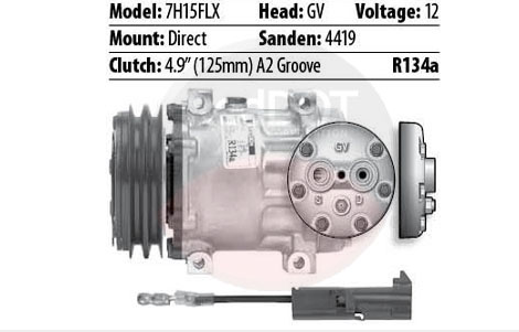 12V DIRECT-FLX GV 1-WIRE 2GRV Compressor