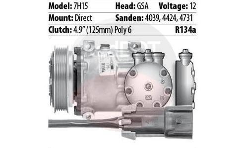 12V DIRECT GSA 2-WIRE 6GRV COMPRESSOR